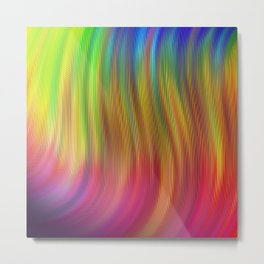 #17 Soft Fluid Animation. Twisted gradient abstract wavy twirl background 3D. Fractal geometric motion. Patterns motion background with Titles. Logo banner. Oblique and straight lines. Metal Print