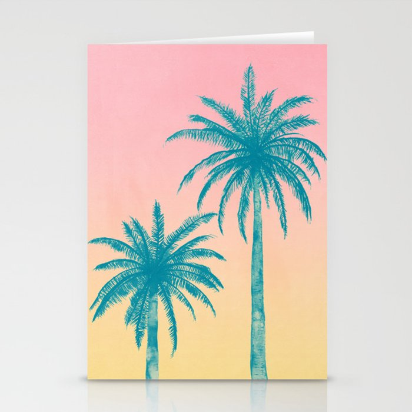palm trees stationery cards by matadesign society6