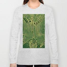 9978s-KD Self Love Explicit Naked Motherboard Fine Art Nude Creative Tech Long Sleeve T-shirt