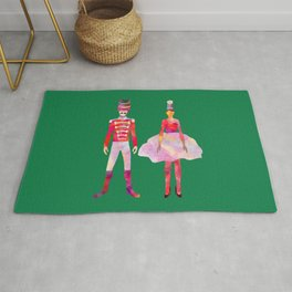 Nutcracker Ballet - Candy Cane Green Rug