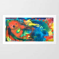 otter Art Prints featuring Otter by Silke Powers