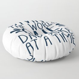 Saving The World One Dad Joke At A Time Floor Pillow