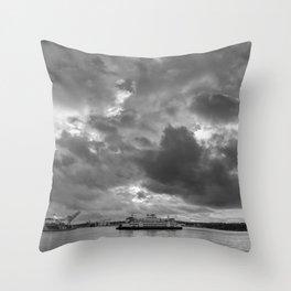 Elliott Bay Ferry Throw Pillow