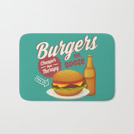 Burgers and Booze Bath Mat