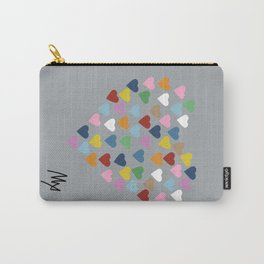 Hearts Heart Multi Grey Carry-All Pouch