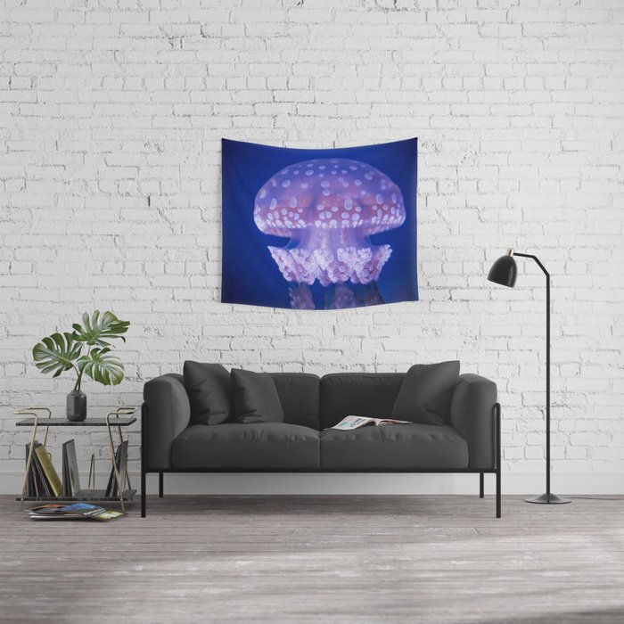 Jellyfish Mushroom Bloom - Photography Wall Tapestry