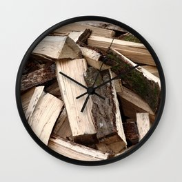Firewood Wall Clock