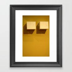 Little Boxes Framed Art Print