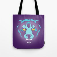 fierce Tote Bags featuring Fierce by MaNia Creations