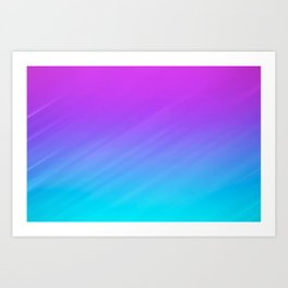 Teal and Purple Shade Art Print