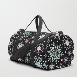 Prismatic Snowflakes Duffle Bag