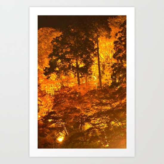 Japanese Autumn Garden Art Print