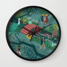Ukiyo-e tale: The beginning of the trip Wall Clock