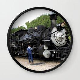 Stop at the Rockwood Depot Wall Clock