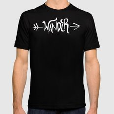 Wander Mens Fitted Tee Black MEDIUM