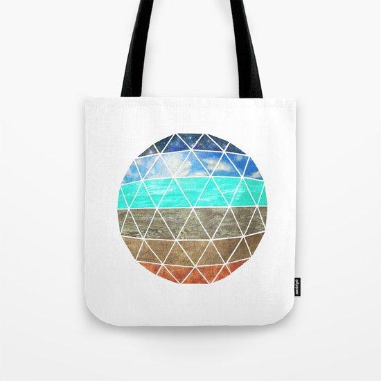 Elemental Geodesic  Tote Bag