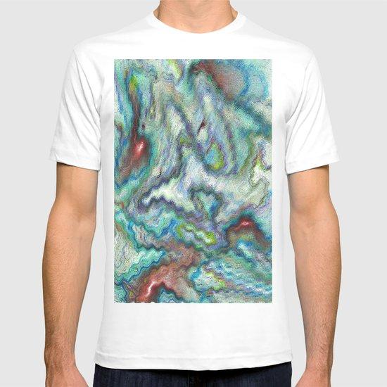Blue Digital art Abstract T-shirt