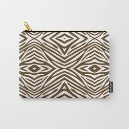 Pecan Neutral Zebra Carry-All Pouch