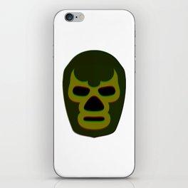 Masked Man 1 - Green iPhone Skin