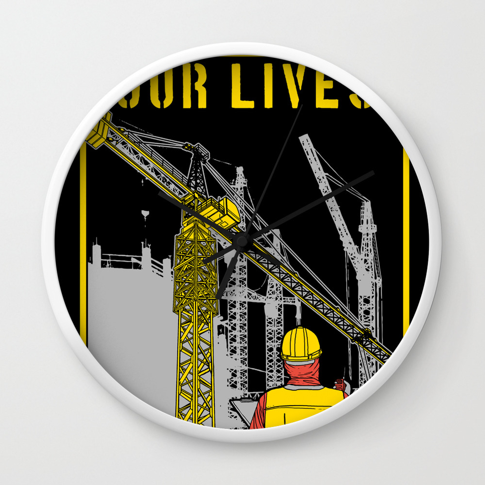 Operator Tower Cranes Wall Clock