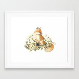 Springtime Fox Framed Art Print