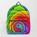 Healing Lotus Rainbow Yin Yang Mandala by psychedeliczen