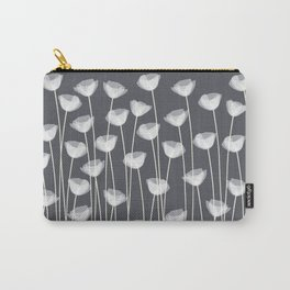 White Poppies Carry-All Pouch