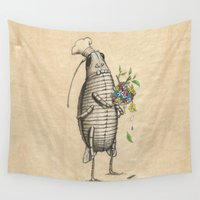 chef Wall Tapestries featuring LIFE OF INSECT ''CHEF'' by FEDERI