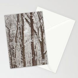 Trees in winter Stationery Cards