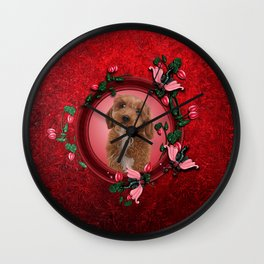 Cute little cockapoo puppy Wall Clock