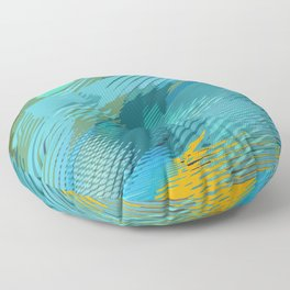 Abstract on the move Floor Pillow