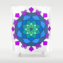 Mandala in blue and pink colors Shower Curtain