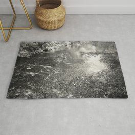 Quiet River - forest Rug