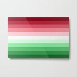 Flag Gradient v2 Metal Print