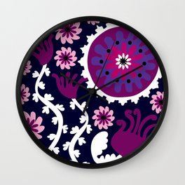 Positively Purple Wall Clock