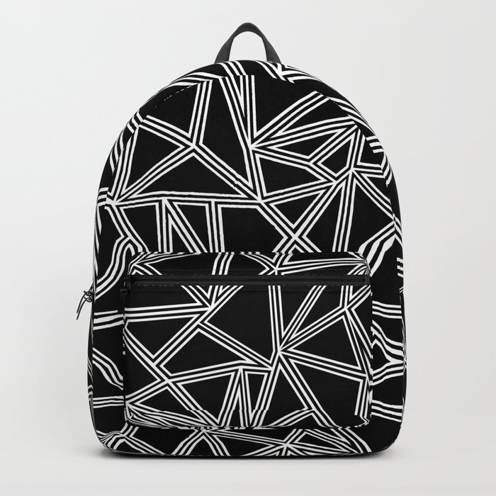 Abstract New White on Black Backpack