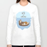 calvin Long Sleeve T-shirts featuring Life of Calvin by Rookie Art&Illustration