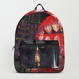 a monster lips nsin my city Backpack