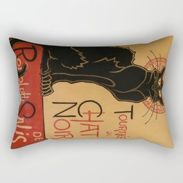 Le Chat Noir - Théophile Steinlen Rectangular Pillow