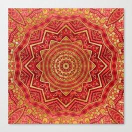 Ruby Red Mandala Canvas Print