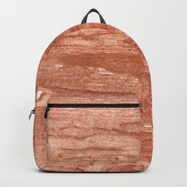 Dark salmon streaked wash drawing background Backpack
