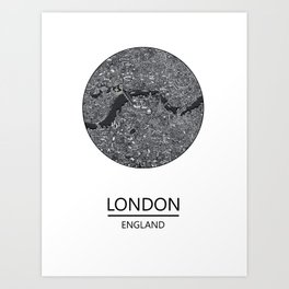 London map print drawing england Art Print