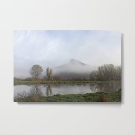 Foggy Morning Bluff Metal Print