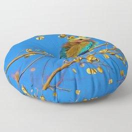 Songbird Singing in the Dead of Night Floor Pillow