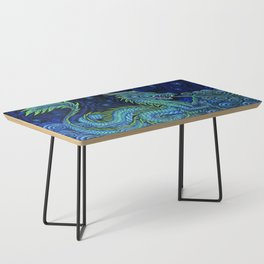 Chinese Azure Dragon Coffee Table