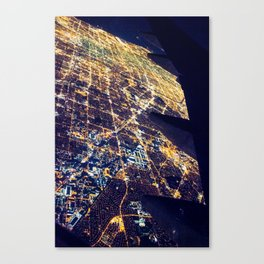 Los Angeles Lights (From a 747) Canvas Print
