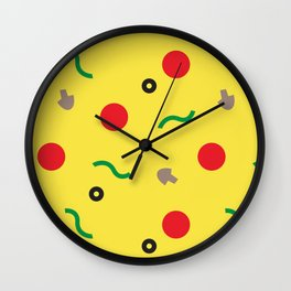 Postmodern Pizza Slice Wall Clock