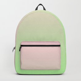 Pastel Ombre Millennial Pink Green Gradient Pattern Backpack