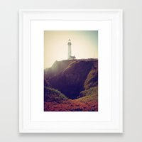 lighthouse Framed Art Prints featuring Lighthouse by Yael Levey