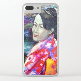 Japanese Lady Clear iPhone Case